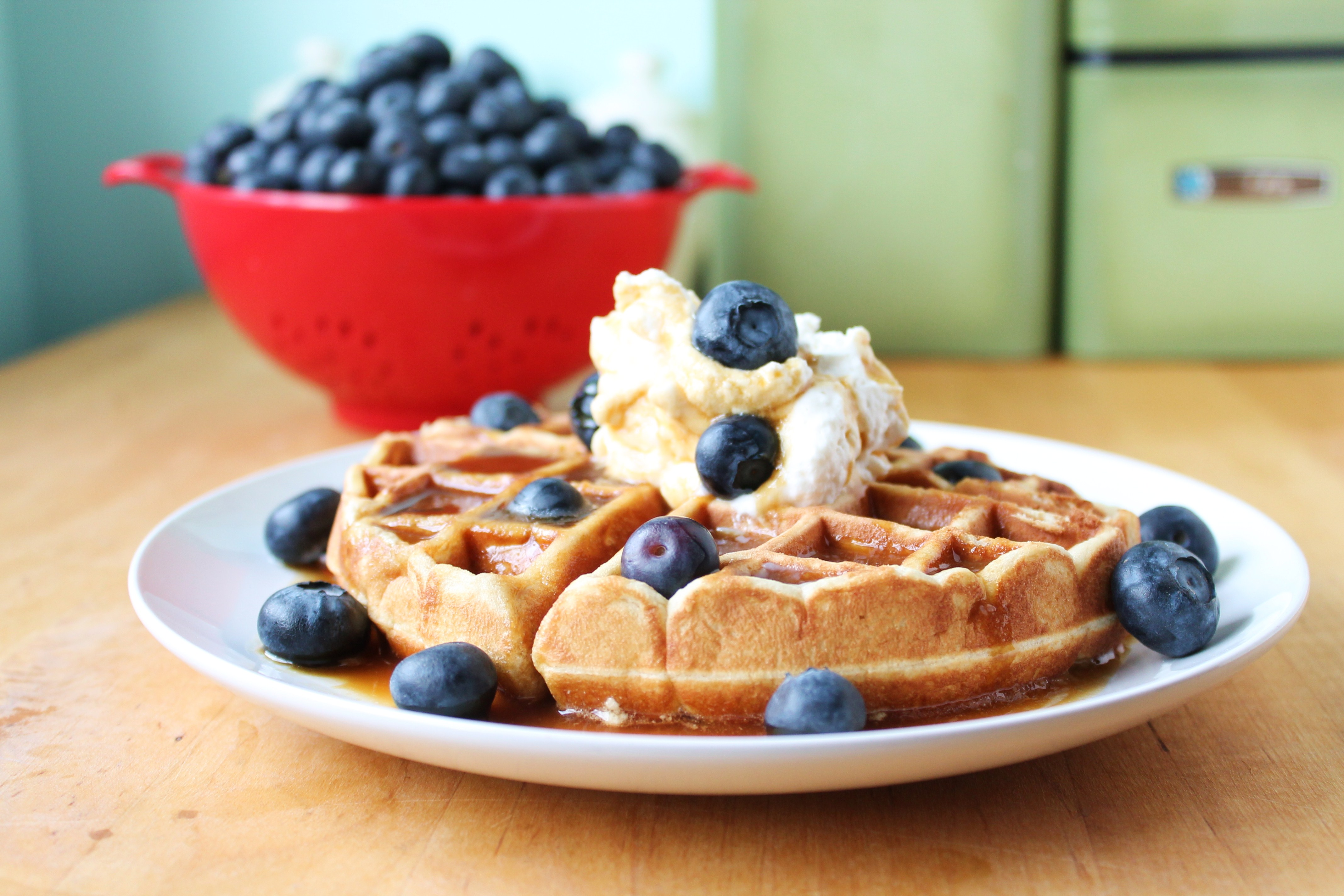 Gluten-free Toasted Coconut Waffles With Maple Cream ...