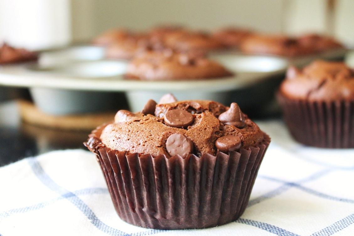 Chocolate Peanut Butter Muffins | Gluten Free Fix