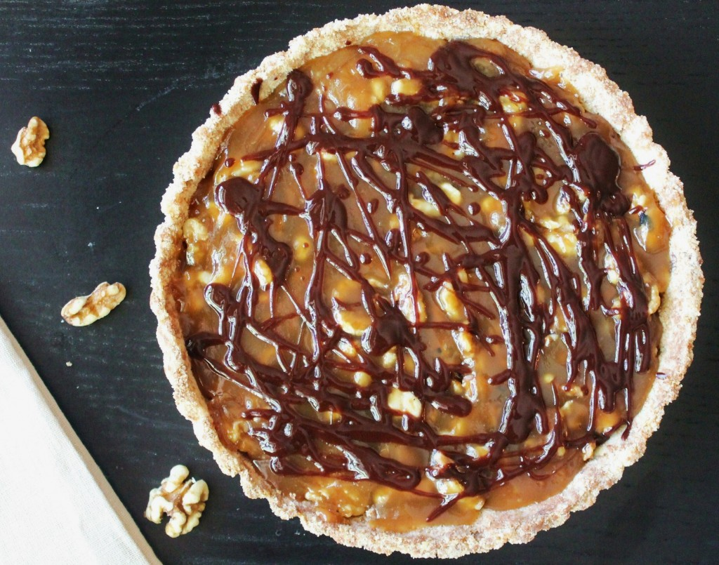 caramel walnut tart one recipe gluten free tart shell fully baked one ...