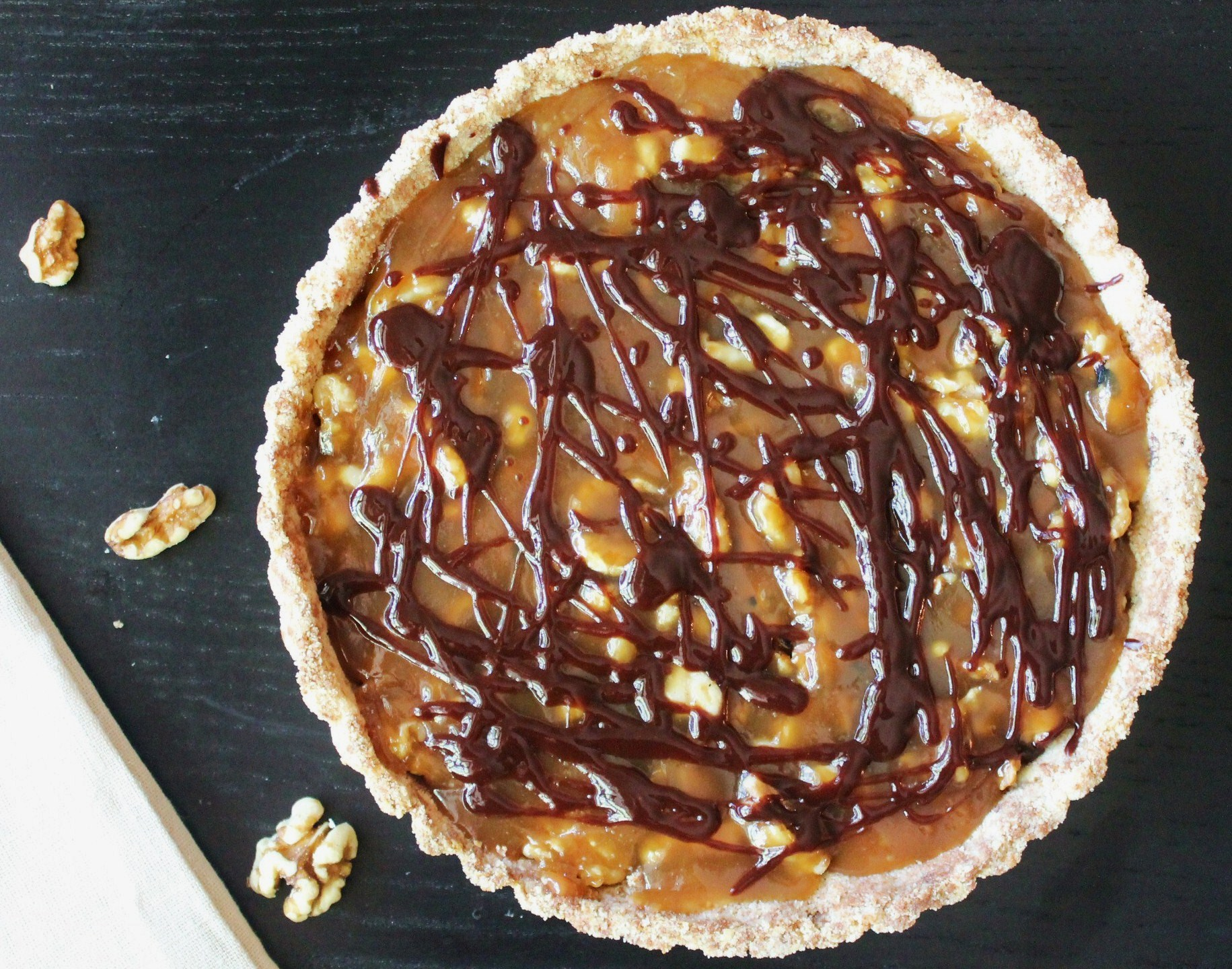 walnut pie with dried cherries salted caramel walnut tart walnut