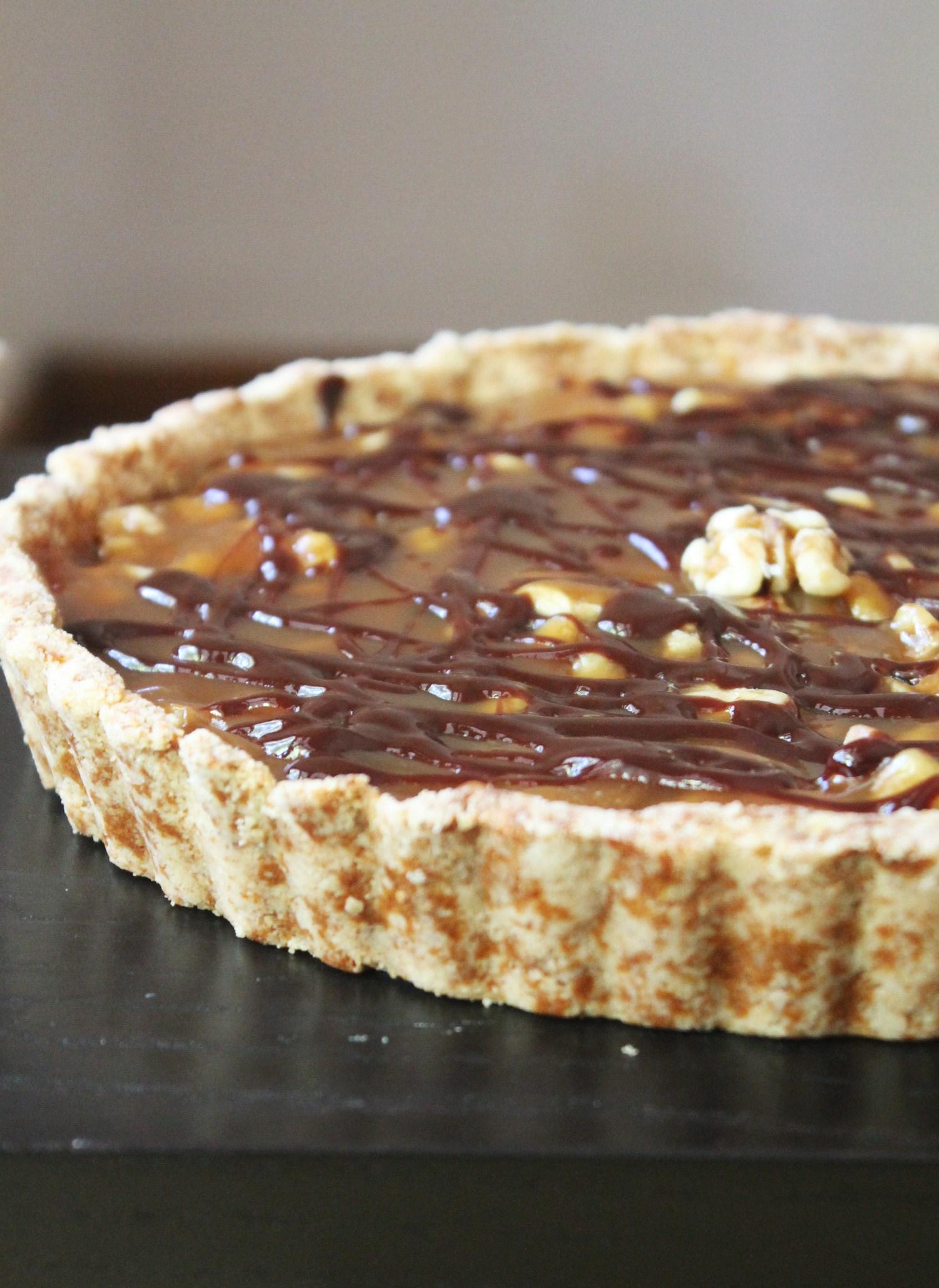 Caramel Walnut Tart | Gluten Free Fix