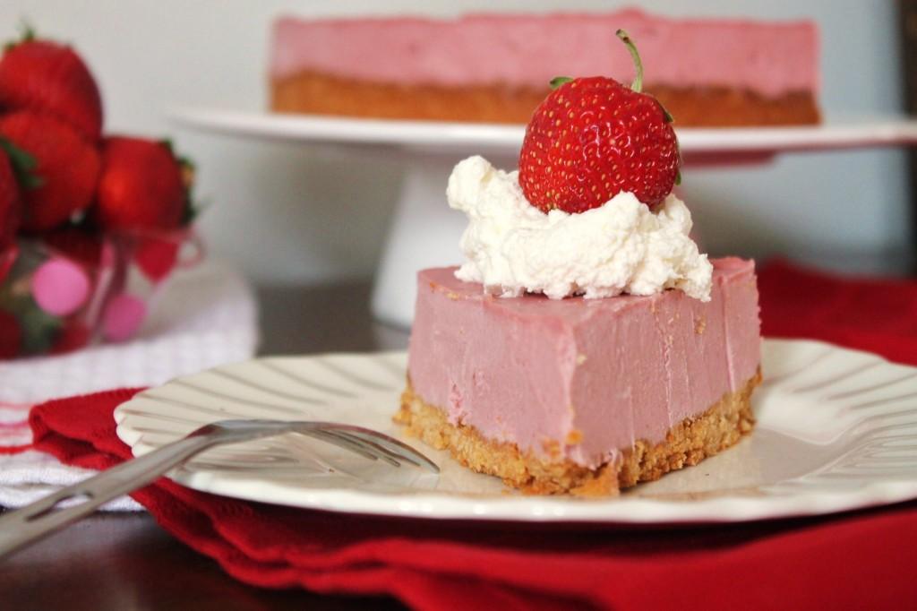 No Bake Strawberry Cheesecake -gluten free, dairy free, paleo!